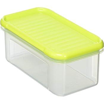 Rotho Domino Vorratsdose 0,5l mit Deckel, Kunststoff (PP) BPA frei, grün, 0,5l (16,5 x 9,0 x 7,0 cm)