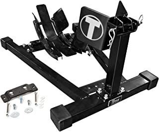 Titan Bulldog w/Spring Loaded Cradle, Motorcycle Wheel Chock w/Quick Release Trailer Kit - Black