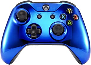 eXtremeRate Chrome Blue Edition Front Housing Shell Faceplate for Microsoft Xbox One S & Xbox One X Controller