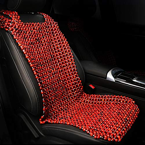 Great Price! RR-YRC Summer Wooden Bead Car Seat Cushion, Car Front Seat Cushion, Breathable Cool Cus...