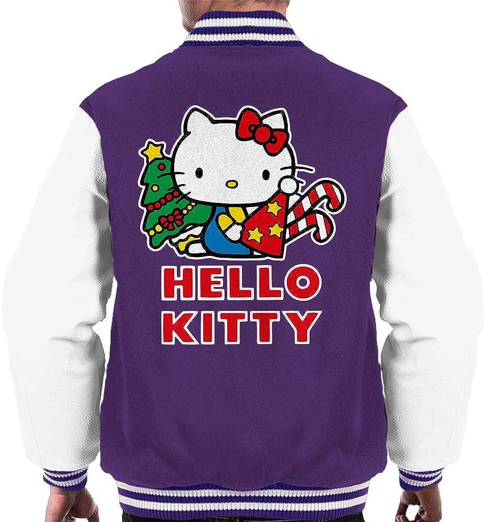 Hello Kitty Columbus Mall Festive Star Christmas Sale special price Varsity Men's Hat Jacket