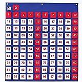 Tabla de bolsillo tarjetas numeradas, Colores diferentes, numeros pares e impares, decena, multiplo Incluye alfabeto ingles, espanol, aleman y frances