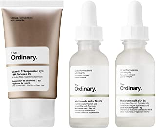 The Ordinary Facial Treatment Set! Includes Vitamin C Cream, Hyaluronic Acid Serum and Niacinamide Serum! Brightens, Hydra...