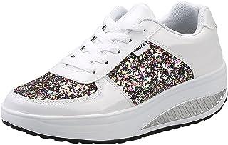 Mujer Zapatillas de Deporte Cuña Zapatos para Caminar