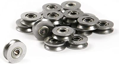 20pcs 624ZZ 4mm V Groove Sealed Guide Pulley Rail Ball Bearing 4x13x6mm
