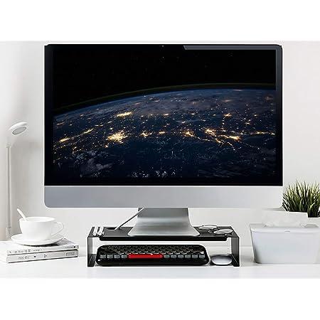 SKAL Soporte de Monitor pc de Elevador de Monitor Altura para Laptop, Ordenador, PC, Impresora, Soporte Metálico