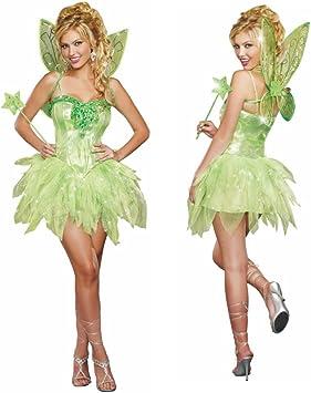 Kostum Grune Fee Damen Kleid Marchen Feenkostum Elfe Fasching Gr M Amazon De Spielzeug