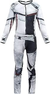 Toddler Carlos Costume Deluxe Jumpsuit Grey Bodysuit Halloween Cosplay Costume for Boys&Man