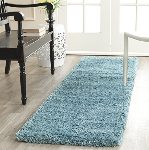 Safavieh Milan Shag Collection SG180-6060 2-inch Thick Area Rug, 2′ x 4′, Aqua Blue