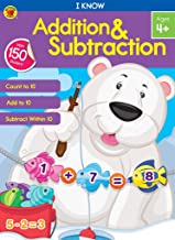 Carson Dellosa — I Know Addition & Subtraction Math Workbook for PK, 1st, 2nd Grade, 64 Pages with Stickers, Ages 4+