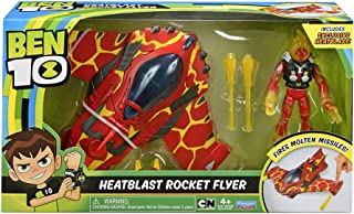 Ben 10 Heatblast Action Figure with Rocket Flyer