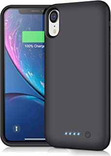 iPhone xr 対応 バッテリー内蔵ケース 6800mAh 大容量 バッテリーケース iPhone xr 対応 battery case アイフォンxr 適応 バッテリーケース 黒