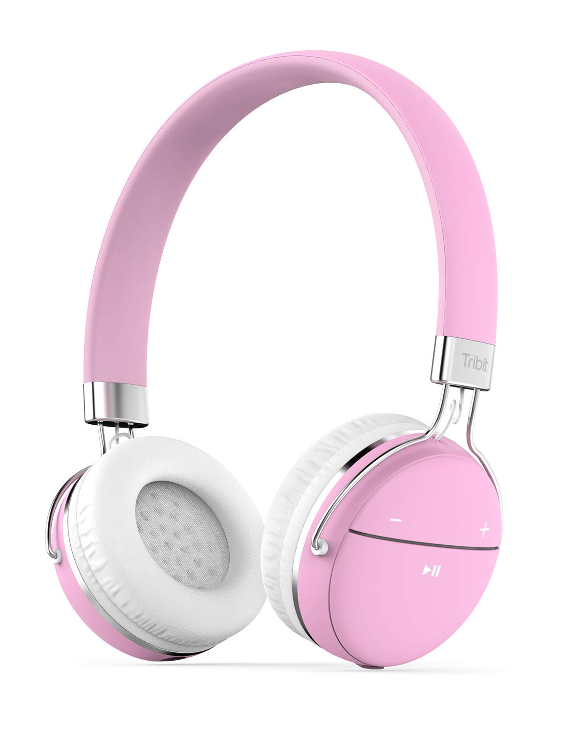 Amazon Com Tribit Xfree Move Bluetooth Headphones With Mic Wireless Headphones For Girls Dual Modes Long Playtime Hi Fi Stereo Sound With Rich Bass Lightweight Headphones For Women Carnation Pink Electronics