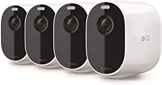 Arlo Essential Spotlight Wire-Free Camera | 4 Pack| 1080p Video | Indoor/Outdoor Security Cameras with Color Night Vision,...