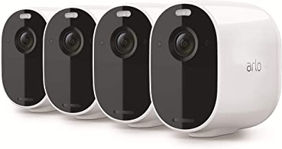 Arlo Technologies Essential Spotlight Wire-Free Camera | 4 Count (Pack of 1)| 1080p Video | Indoor/Outdoor Security Camera...