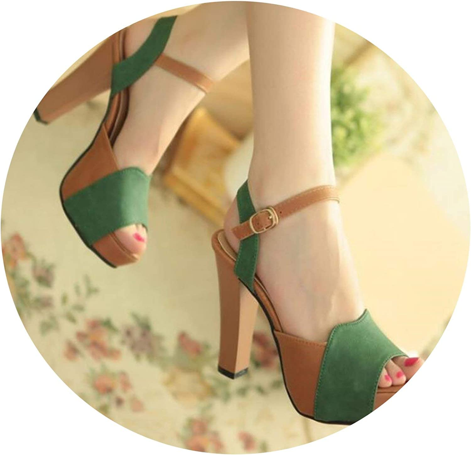 ALWAYS ME Thick with Fish Mouth Sandals Female Summer Elegant high with Waterproof Platform Buckle Casual shoes