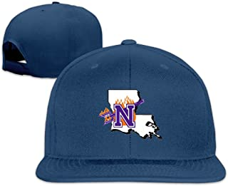 NSU Map University Sport Snapback Flat Baseball Fit Cap Ash