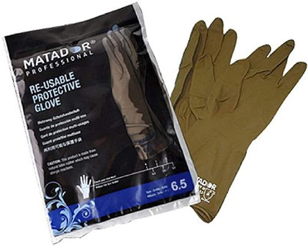 知性知性ドラフトマタドールゴム手袋 6.0吋 【3個セット】