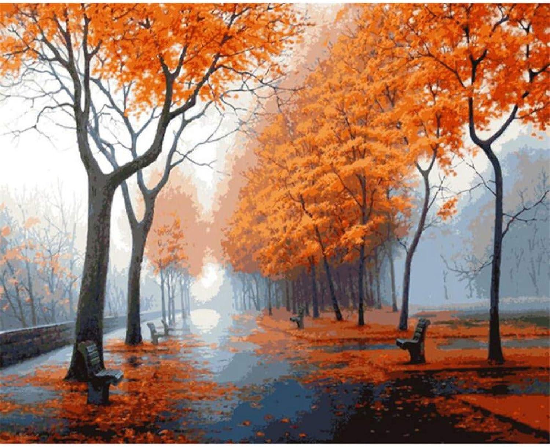 WYTTT DIY Digital Digital Digital Malen Nach Zahlen Paket Ahorn Bäume Ölgemälde Mural Kits Wandkunst Bild Geschenk 16X20 Zoll Frameless B07Q4LZDTM | New Products  c72708