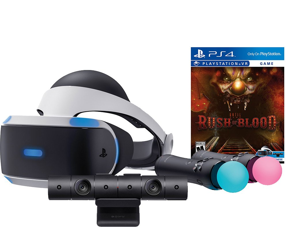 Amazon Com Sony Playstation Vr Rush Of Blood Starter Bundle 4 Items Vr Headset Move Controller Playstation Camera Motion Sensor Psvr Until Dawn Rush Of Blood Video Games