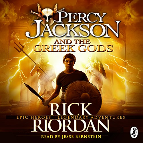 Percy Jackson and the Greek Gods audiobook cover art