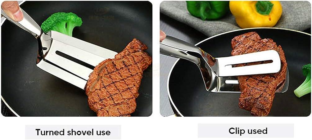 ShiFan Pince De Cuisson, Pince Barbecue En Acier Inoxydable, Tongs De Cuisine, Cuisson En Acier Inoxydable Et Revêtement En Plastique Poignée Pince C
