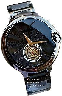 Kurti Fashion Chronograph Men's Watch (Black Dial Black Colored Strap)