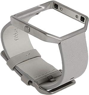 Fitbit Blaze - Correa de cuero y marco de metal