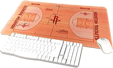 """TRIPRO Basketball Arena Design Large Gaming Mouse Pad XXL Extended Mat Desk Pad,Size 23.6""""x11.8"""",Water-Resistant,Non-Slip Base,for NBA Fans Gifts (Rockets)"""