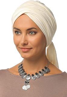 Gingerlining Multi-Way Wrap Cotton Turban Hijab for Women (Off White)