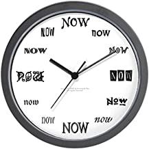 CafePress Now Wall Clock (B/W) Unique Decorative 10