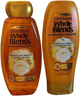 Garnier Whole Blends Moroccan Argan Camellia Oils Shampoo & Conditioner