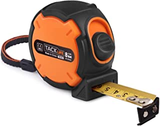 Measuring Tape, Tape Measure 25-Foot(8m) Tape Ruler Metric and Inches with Magnetic Hook, Nylon Coating, Wrist Strap for Construction, Home, Carpentry Measurement