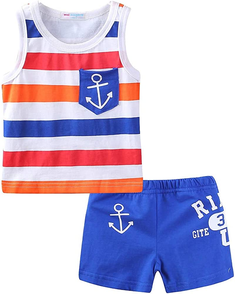 LittleSpring Toddler Boys Girls OFFer Summer Outfits Shor and Gifts Tank Top