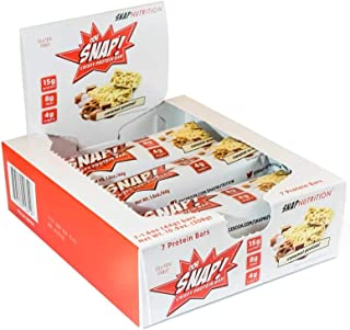 Ohh Snap Nutrition Gluten Free Crispy Protein Bar, Natural and Artificial Caramel Pretzel Flavors – 7 Count Boxes