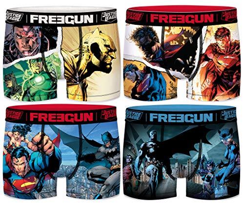 Freegun Herren Boxershorts DC Comics (4 Stück) Gr. XL, Ass2