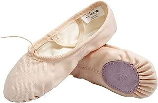 Nexete Ballet Shoes Slippers Classic Canvas Split-Sole Dance Slippers for Toddler Kid Girl Boy Women