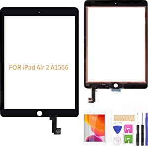 A-MIND For IPad Air 2 A1566 A1567 Touch Screen Digitizer Replacement ( LCD Not Include,NO Home Button) With Screen Protector+Repair Tools(Black)