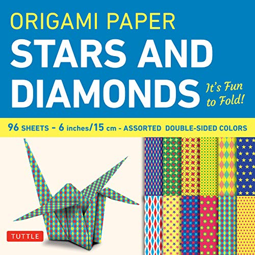 Origami Paper 96 sheets - Stars and Diamonds 6 inch (15 cm): Tuttle Origami Paper: High-Quality Origami Sheets Printed with 12 Different Patterns: Instructions for 6 Projects Included