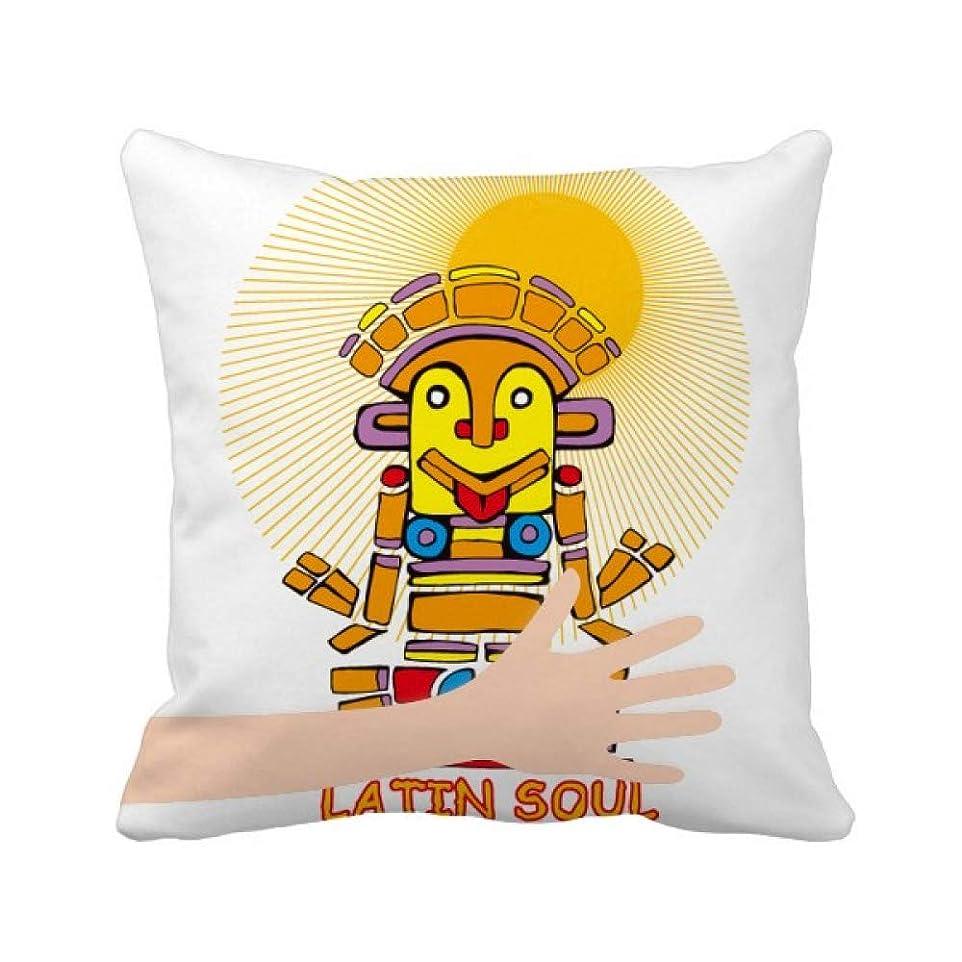 挑む世界的に織機古代エジプトのラテンの魂の像のパターン 手投げ枕カバー正方形