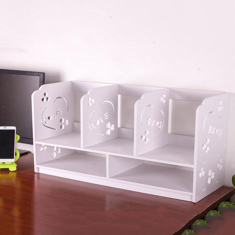 YAXIAO Desktop Bookcase Desk Mini Bookcase Book Sundries Storage Shelf Counter Display Stand 35x60x22cm Bookshelf