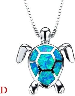 💗 Orcbee 💗 _Women Charm Cute Sweater Necklace Opal Turtle Pendant Jewelry Ornament