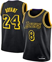 Heren Jersey, Bryant #8, #24 Herdenkingsmuseum Jersey Zwart Mamba Jersey Ademend Mouwloos Sport Vest Fan Basketbal Jersey...