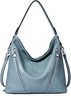 BOSTANTEN Women Leather Handbag Designer Large Hobo Purses Shoulder Bags