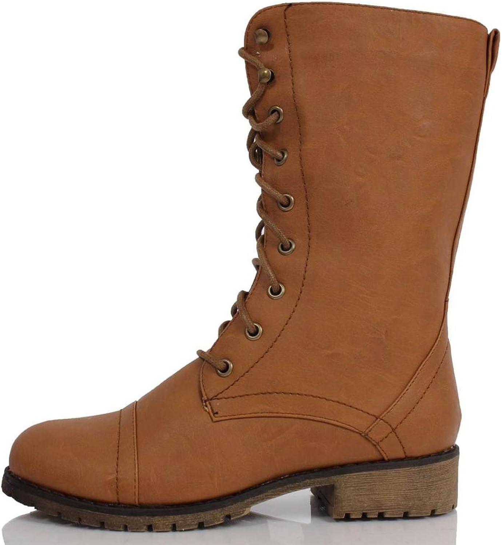 Lug 11 Womens Military Lace up Combat BootLug11v8.0 Premium Tan 6