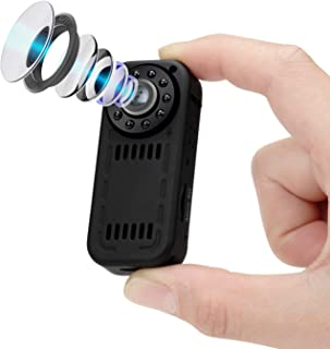 ENSTER Mini Wireless Wi-fi Camera, 1080p HD Nanny Cam with Motion Detection, Infrared Night Vision, Loop Recording Small I...