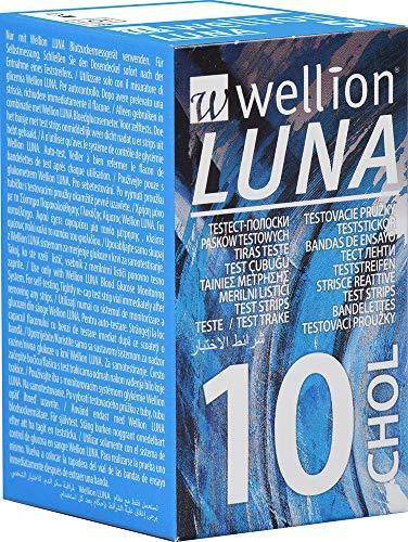 Wellion LUNA Cholesterin-Teststreifen, 10 Stück
