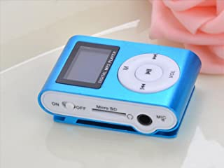 DishyKooker East-Vita Blue Mini MP3 Player Clip USB LCD Screen Support for 32GB Micro SD Practical Electronic Product