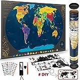 Pootack Mapa Mural para Rascar del Mundo 840*420mm - Rascar Island, País, las...