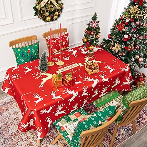 Tovaglia Di Natale, Misto Cotone E Lino, Tovaglia Leggera Impermeabile Con Pupazzo Di Neve, Può...